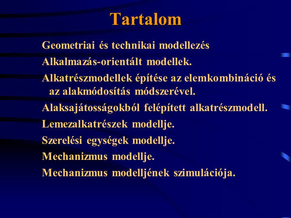 Tartalom Geometriai és technikai modellezés