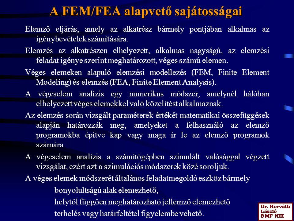 A FEM/FEA alapvető sajátosságai