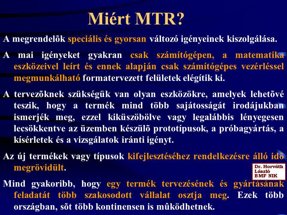 Miért MTR A megrendelõk speciális és gyorsan változó igényeinek kiszolgálása.