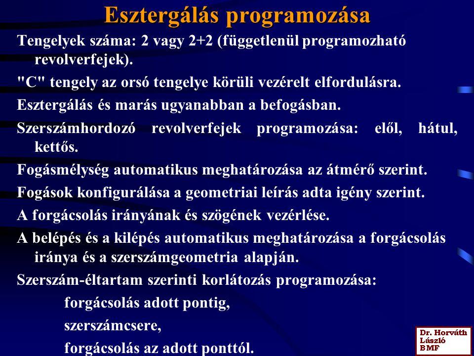 Esztergálás programozása