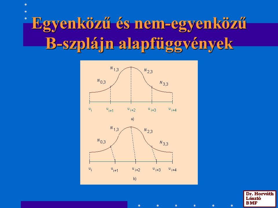 Egyenközű és nem-egyenközű B-szplájn alapfüggvények