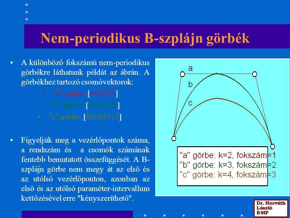 Nem-periodikus B-szplájn görbék