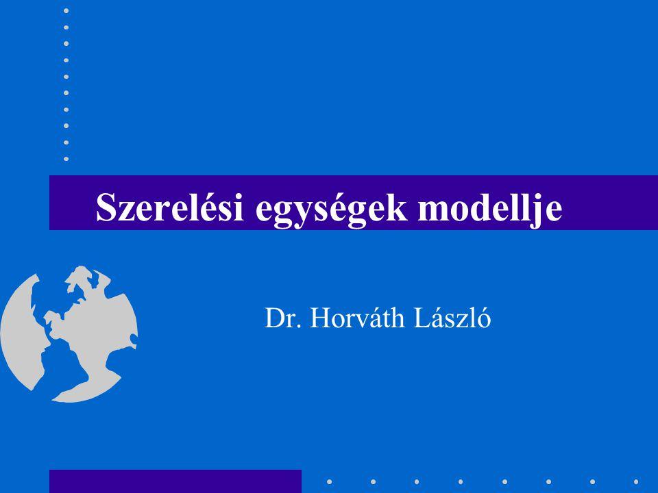 Szerelési egységek modellje
