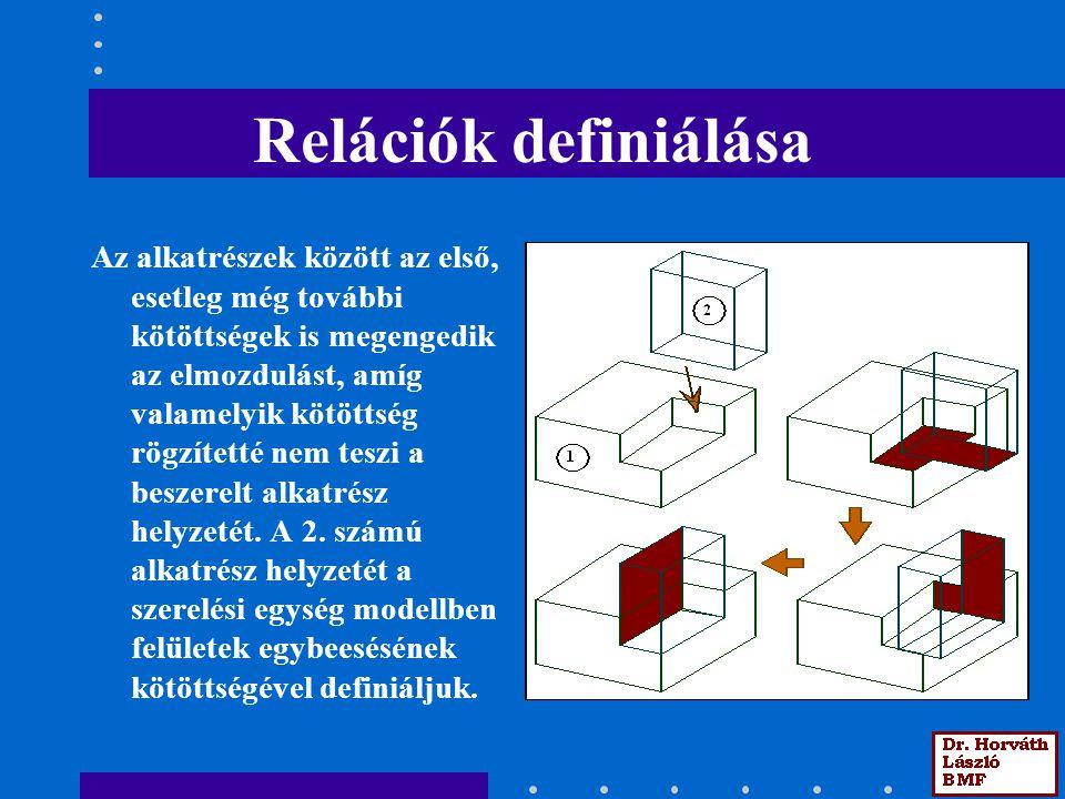 Relációk definiálása