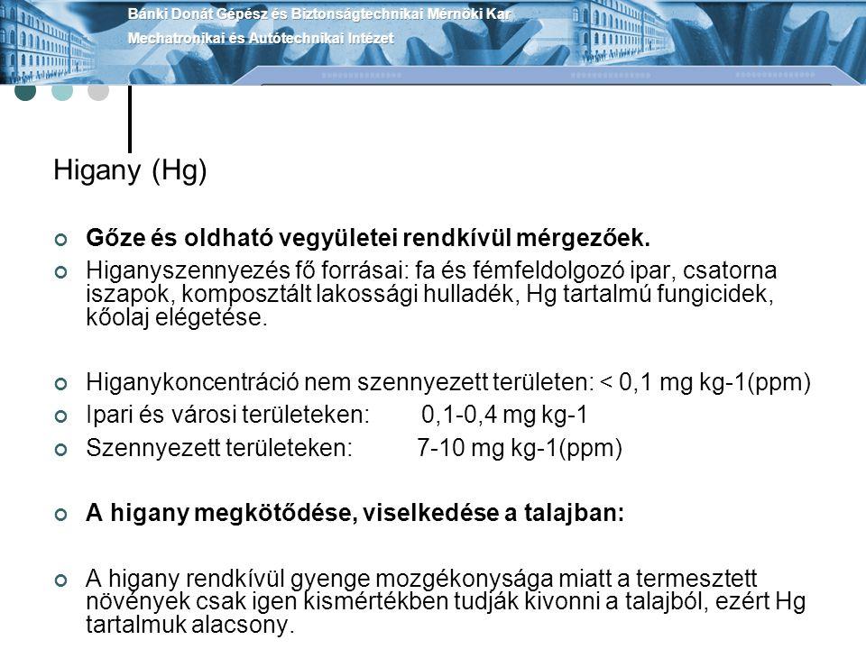 Higany (Hg) Gőze és oldható vegyületei rendkívül mérgezőek.