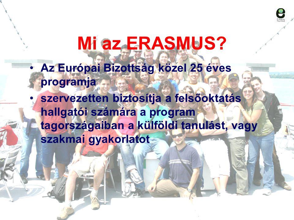 Mi az ERASMUS Az Európai Bizottság közel 25 éves programja