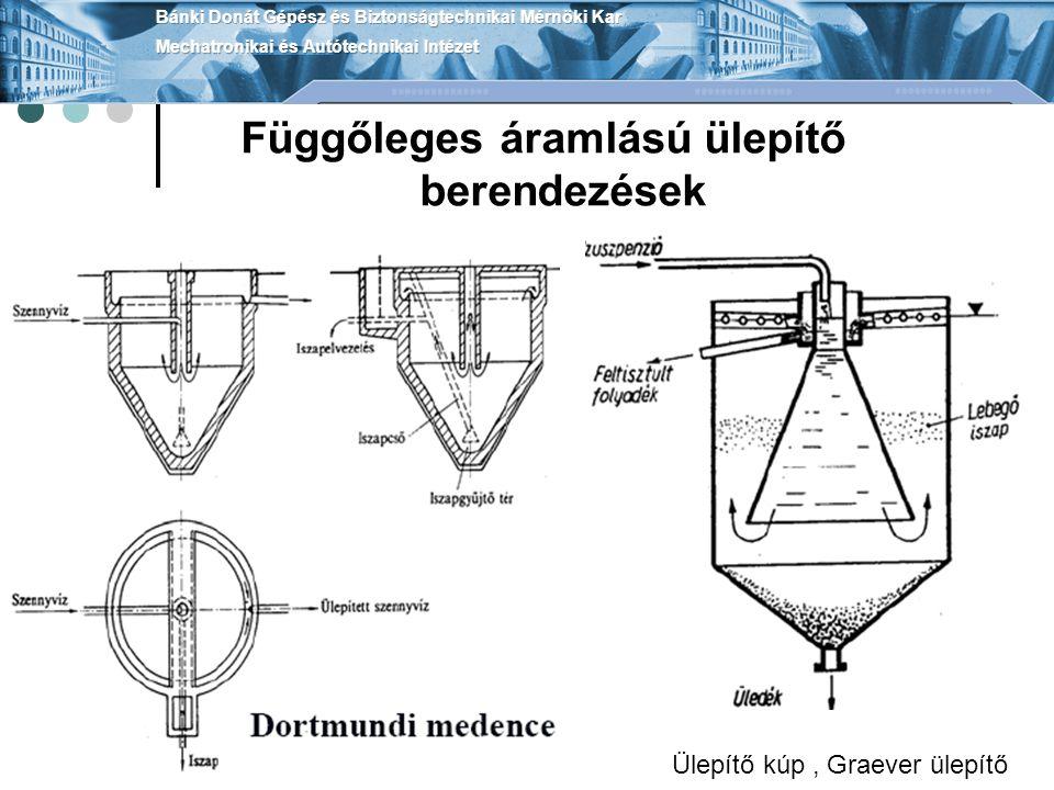 Függőleges áramlású ülepítő berendezések