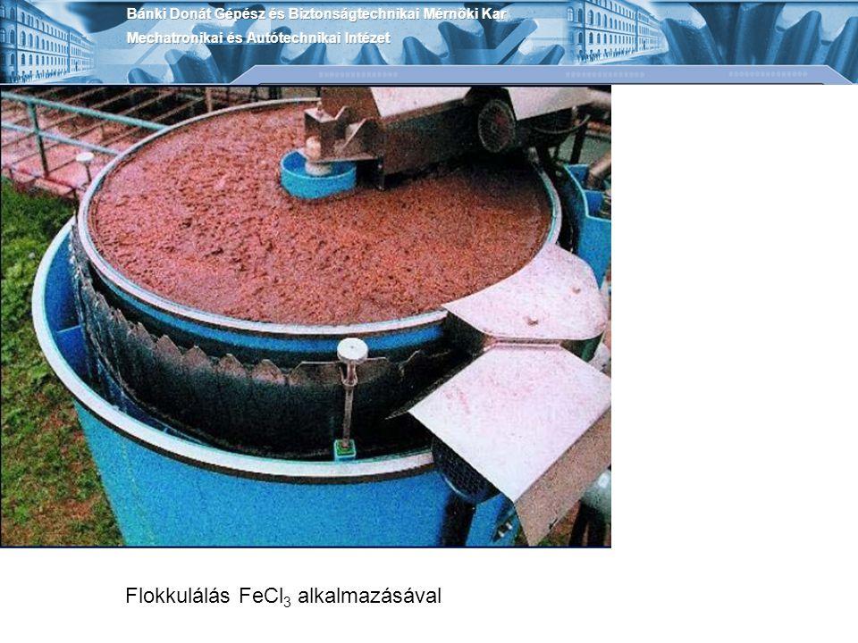 Flokkulálás FeCl3 alkalmazásával
