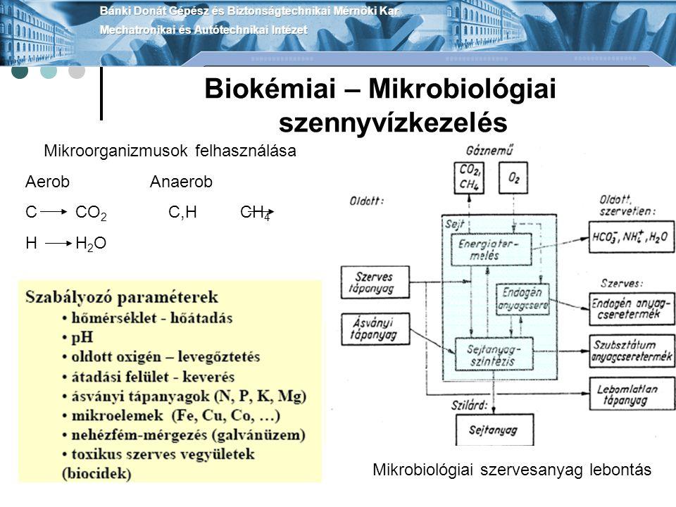 Biokémiai – Mikrobiológiai szennyvízkezelés