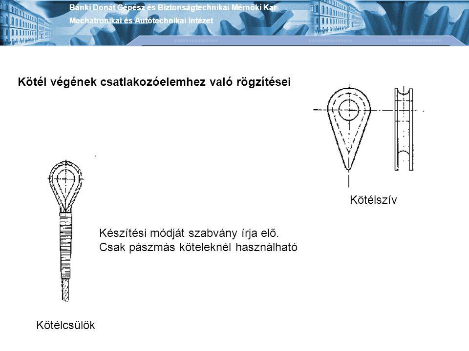 Kötél végének csatlakozóelemhez való rögzítései