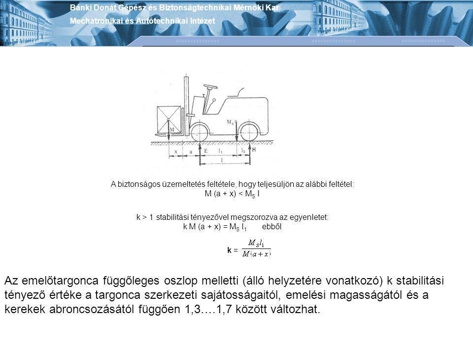 k > 1 stabilitási tényezővel megszorozva az egyenletet: