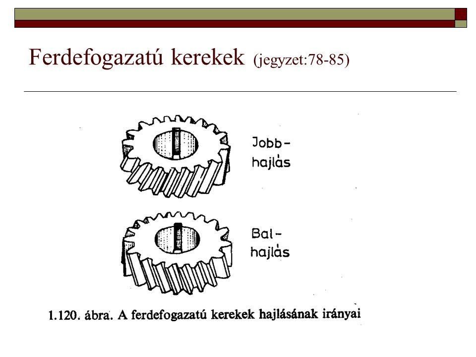 Ferdefogazatú kerekek (jegyzet:78-85)