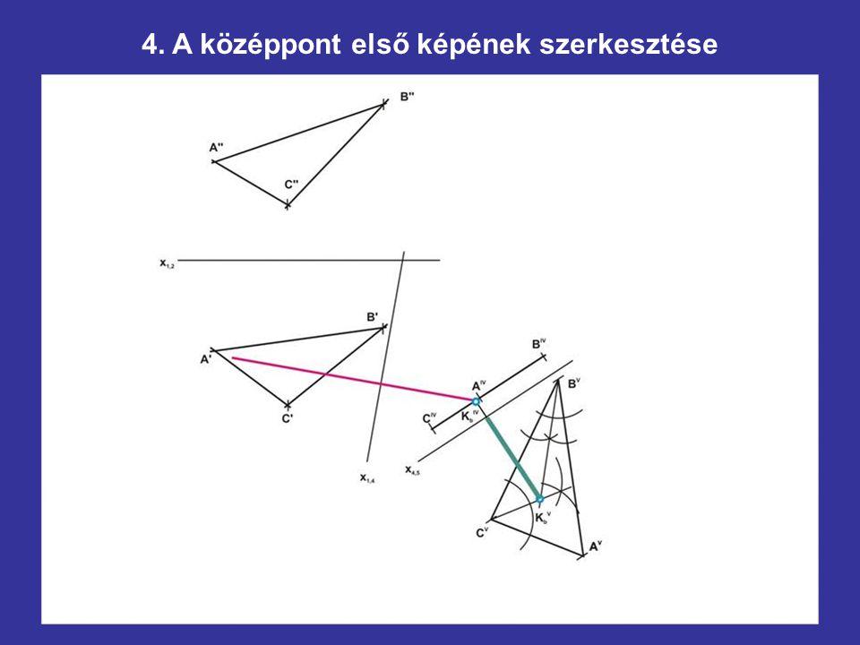 4. A középpont első képének szerkesztése