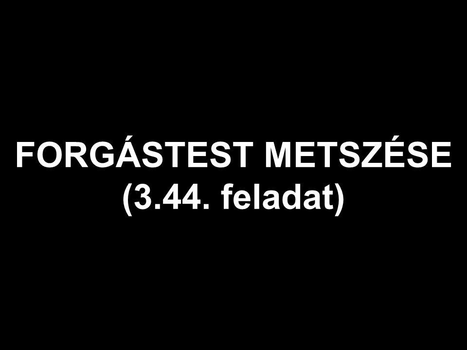 FORGÁSTEST METSZÉSE (3.44. feladat)