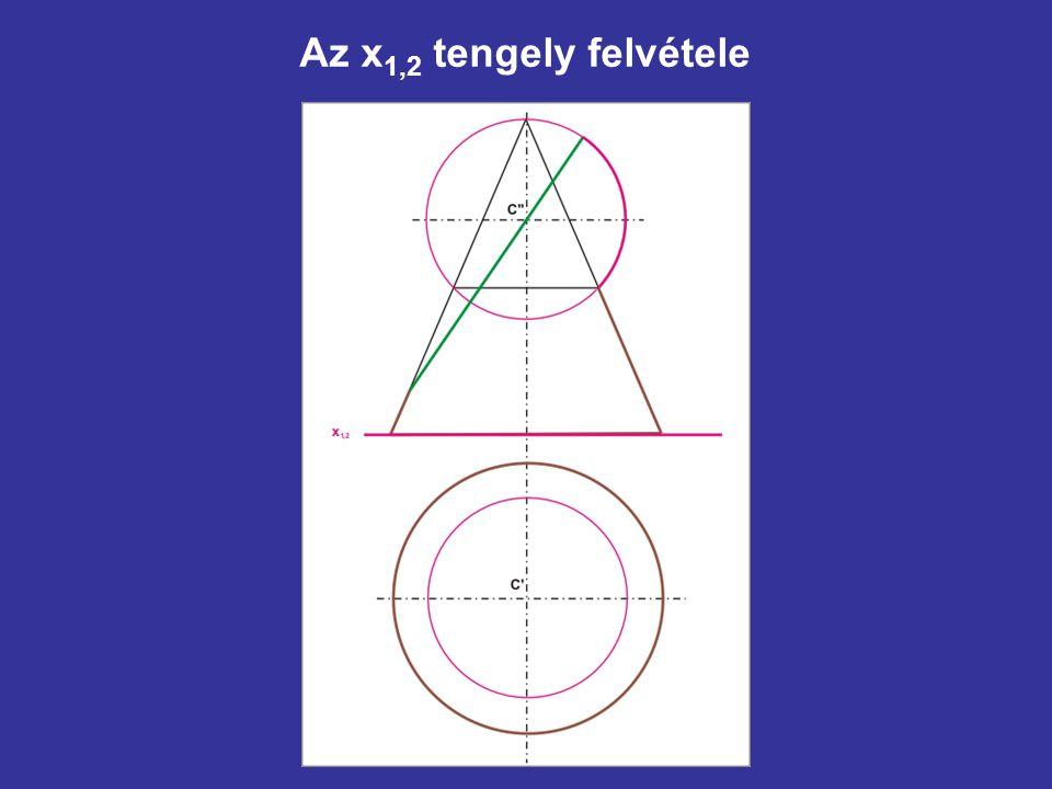 Az x1,2 tengely felvétele