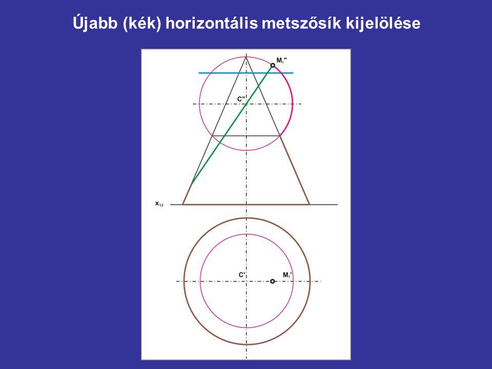 Újabb (kék) horizontális metszősík kijelölése