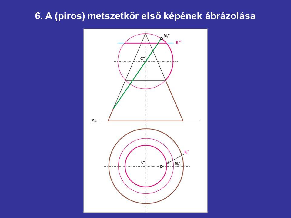6. A (piros) metszetkör első képének ábrázolása