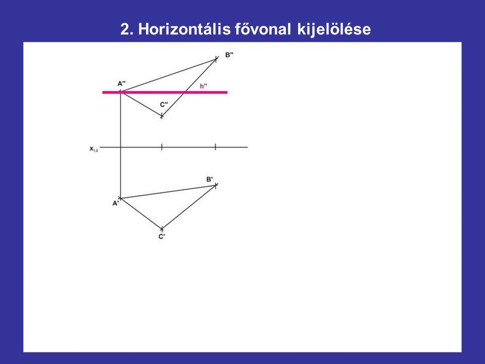 2. Horizontális fővonal kijelölése