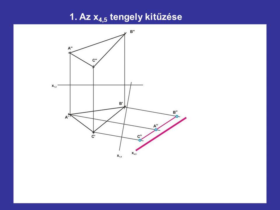 1. Az x4,5 tengely kitűzése