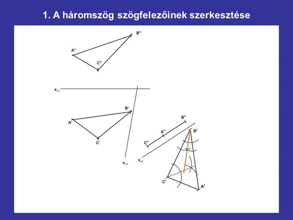 1. A háromszög szögfelezőinek szerkesztése