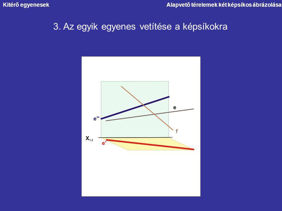 3. Az egyik egyenes vetítése a képsíkokra