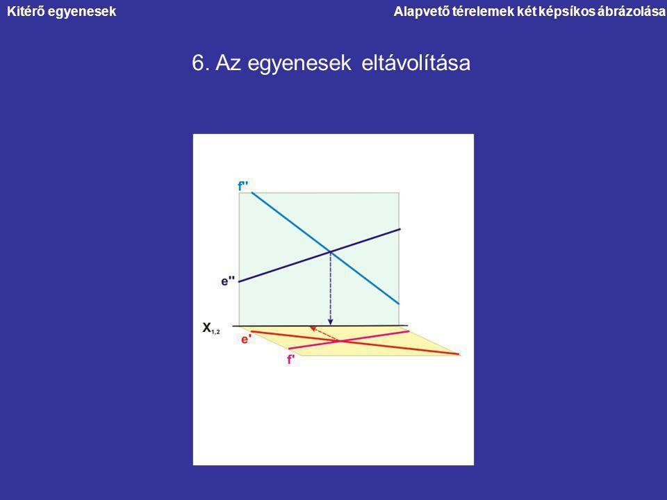 6. Az egyenesek eltávolítása