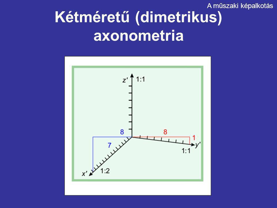 Kétméretű (dimetrikus) axonometria