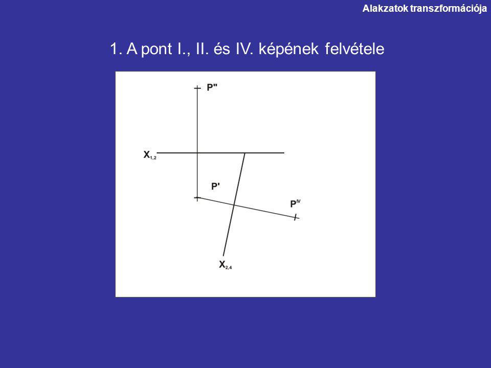 1. A pont I., II. és IV. képének felvétele