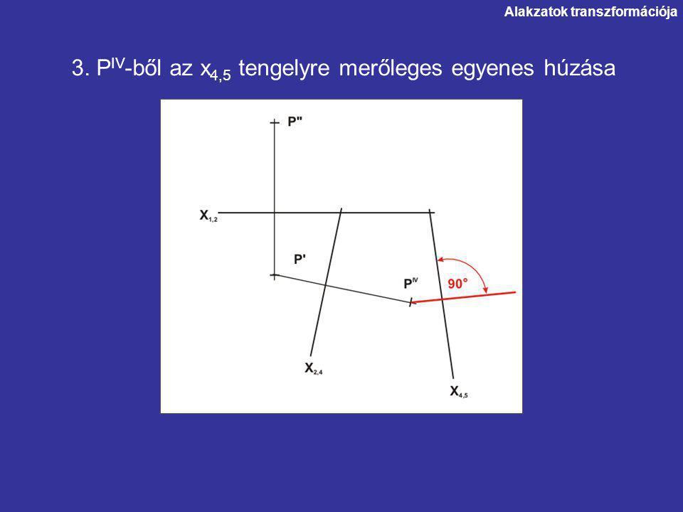 3. PIV-ből az x4,5 tengelyre merőleges egyenes húzása