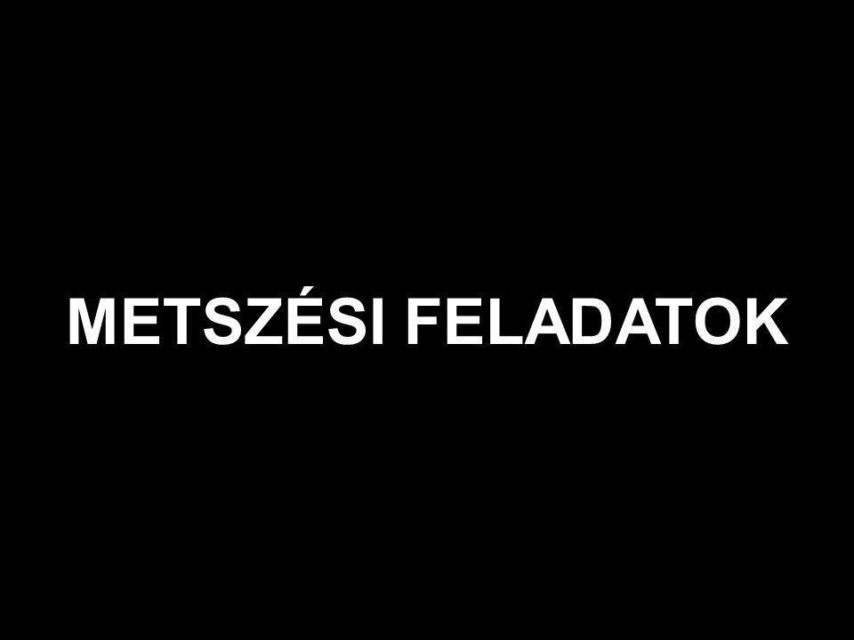 METSZÉSI FELADATOK