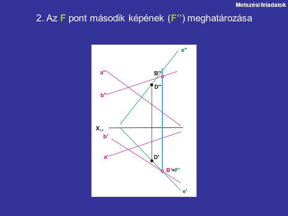 2. Az F pont második képének (F'') meghatározása