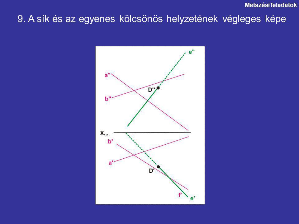 9. A sík és az egyenes kölcsönös helyzetének végleges képe
