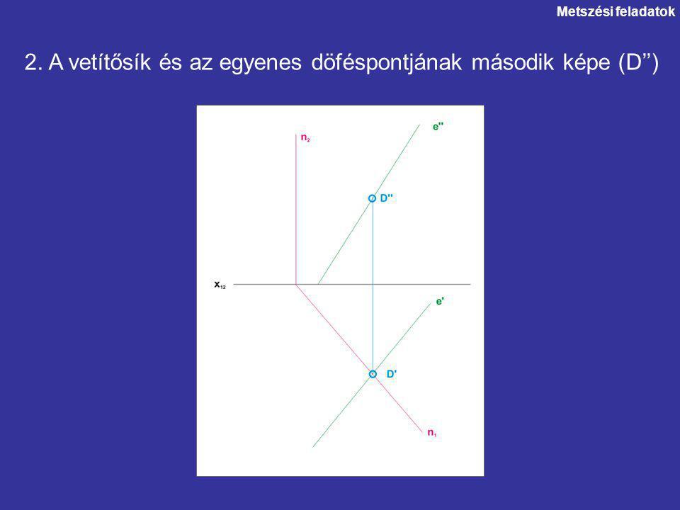 2. A vetítősík és az egyenes döféspontjának második képe (D'')