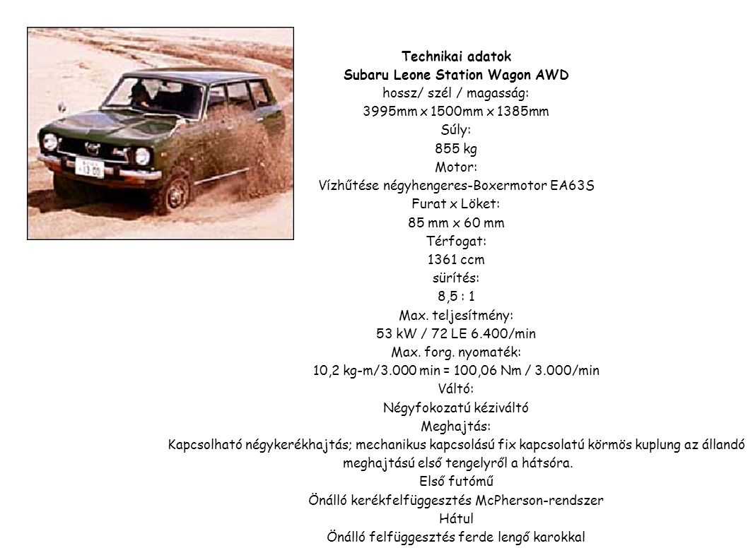 Subaru Leone Station Wagon AWD