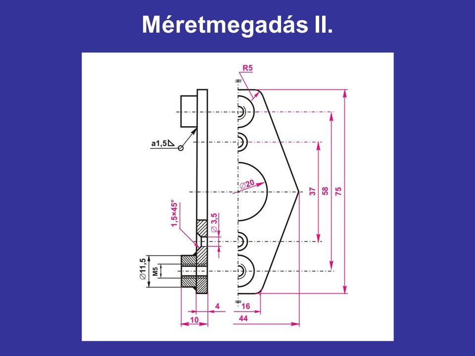 Méretmegadás II.