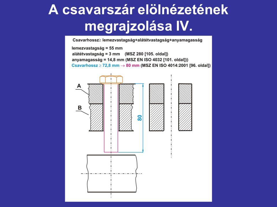 A csavarszár elölnézetének megrajzolása IV.