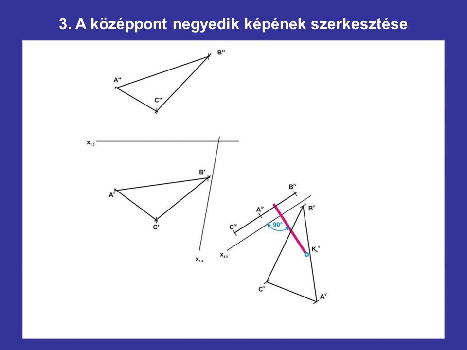 3. A középpont negyedik képének szerkesztése