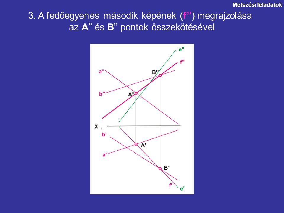 3. A fedőegyenes második képének (f'') megrajzolása