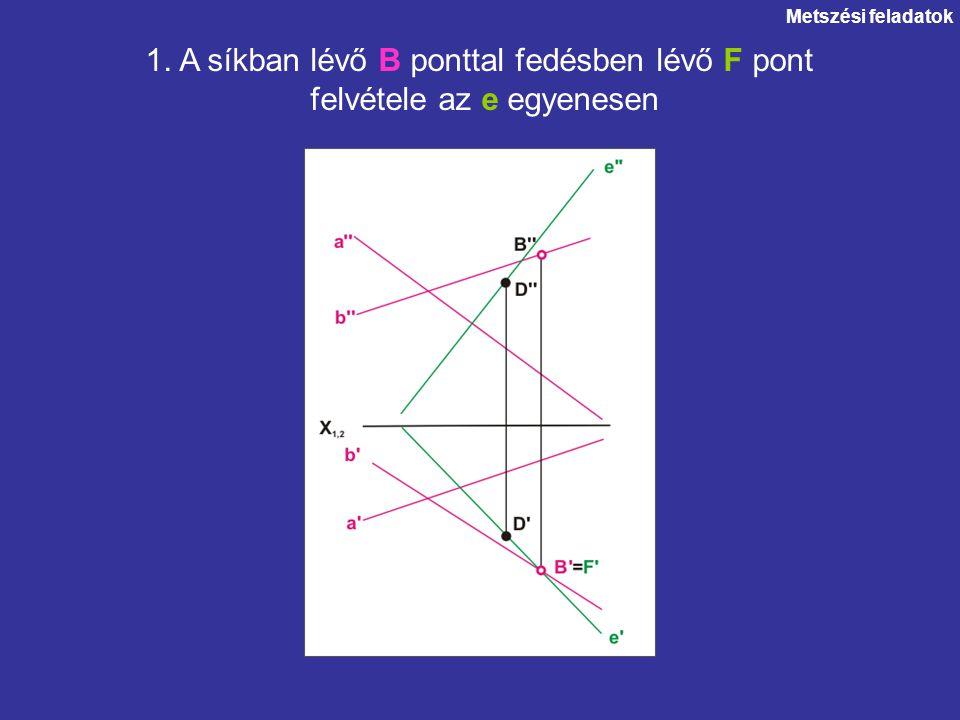 1. A síkban lévő B ponttal fedésben lévő F pont