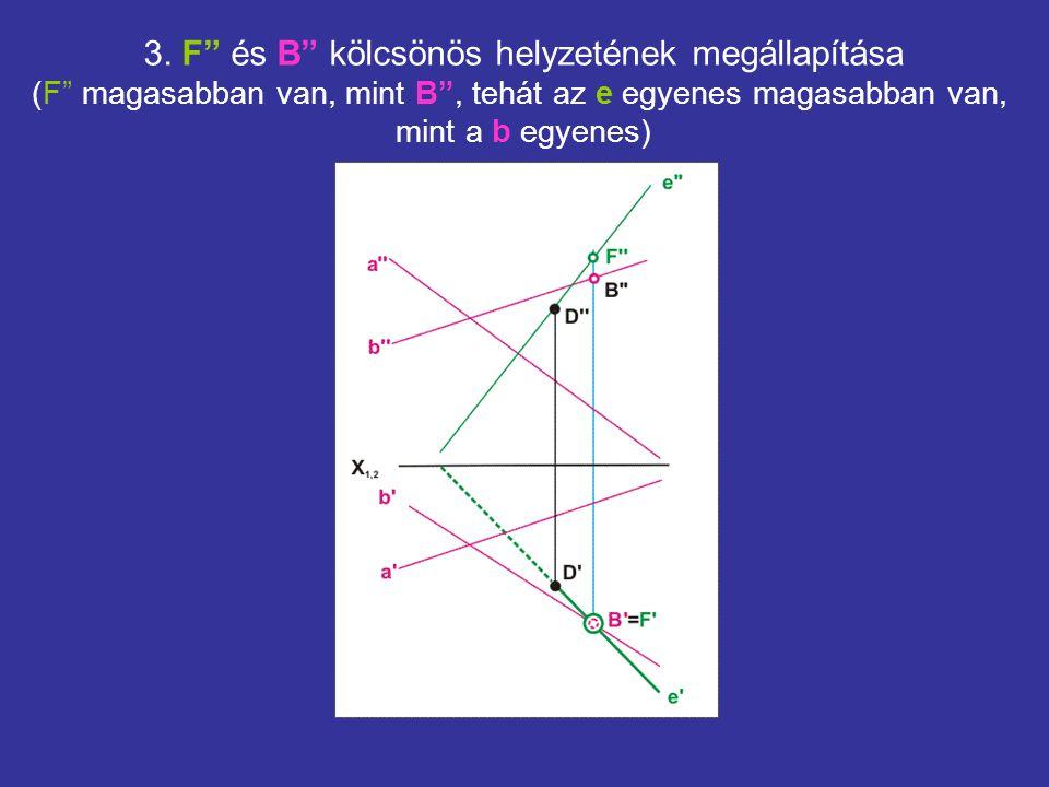 3. F és B kölcsönös helyzetének megállapítása