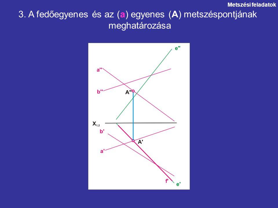 3. A fedőegyenes és az (a) egyenes (A) metszéspontjának