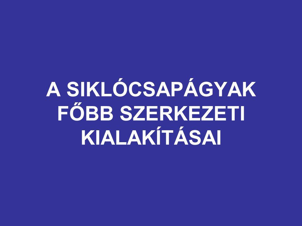 A SIKLÓCSAPÁGYAK FŐBB SZERKEZETI KIALAKÍTÁSAI