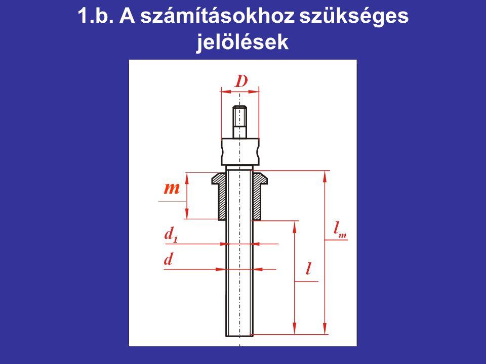 1.b. A számításokhoz szükséges jelölések