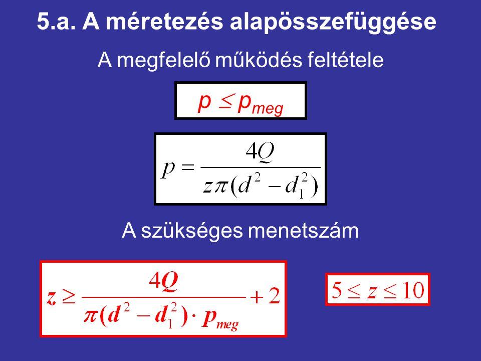 5.a. A méretezés alapösszefüggése