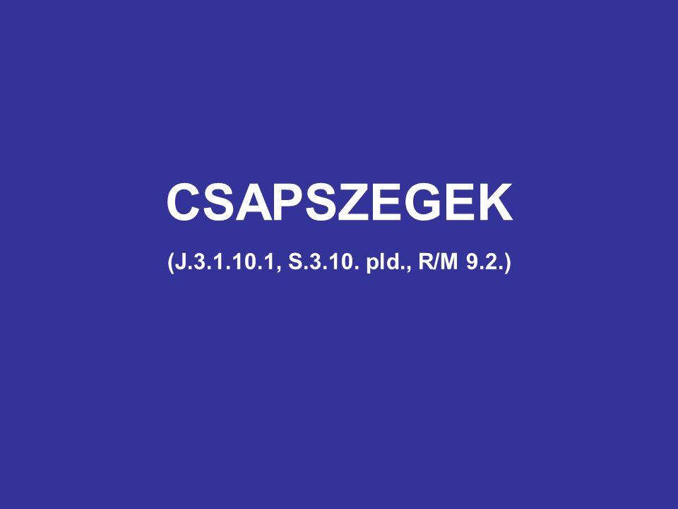 CSAPSZEGEK (J.3.1.10.1, S.3.10. pld., R/M 9.2.)