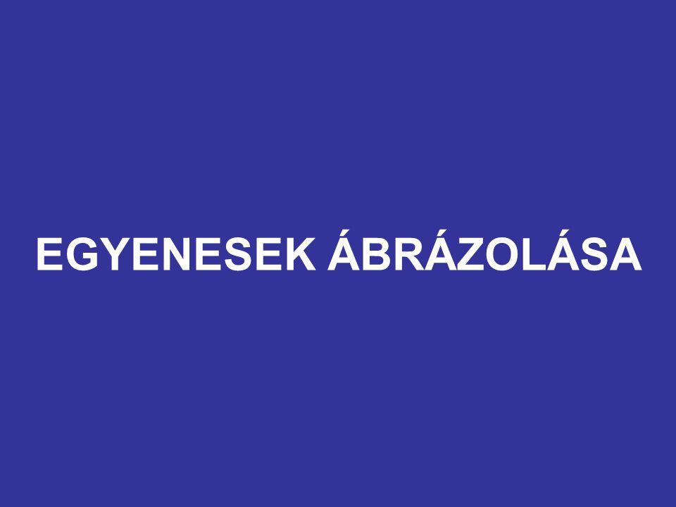 EGYENESEK ÁBRÁZOLÁSA