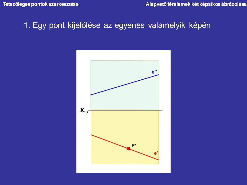 1. Egy pont kijelölése az egyenes valamelyik képén