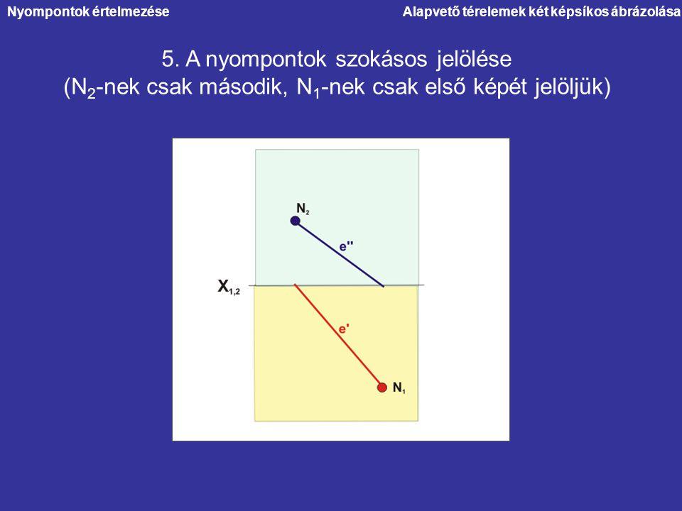 5. A nyompontok szokásos jelölése