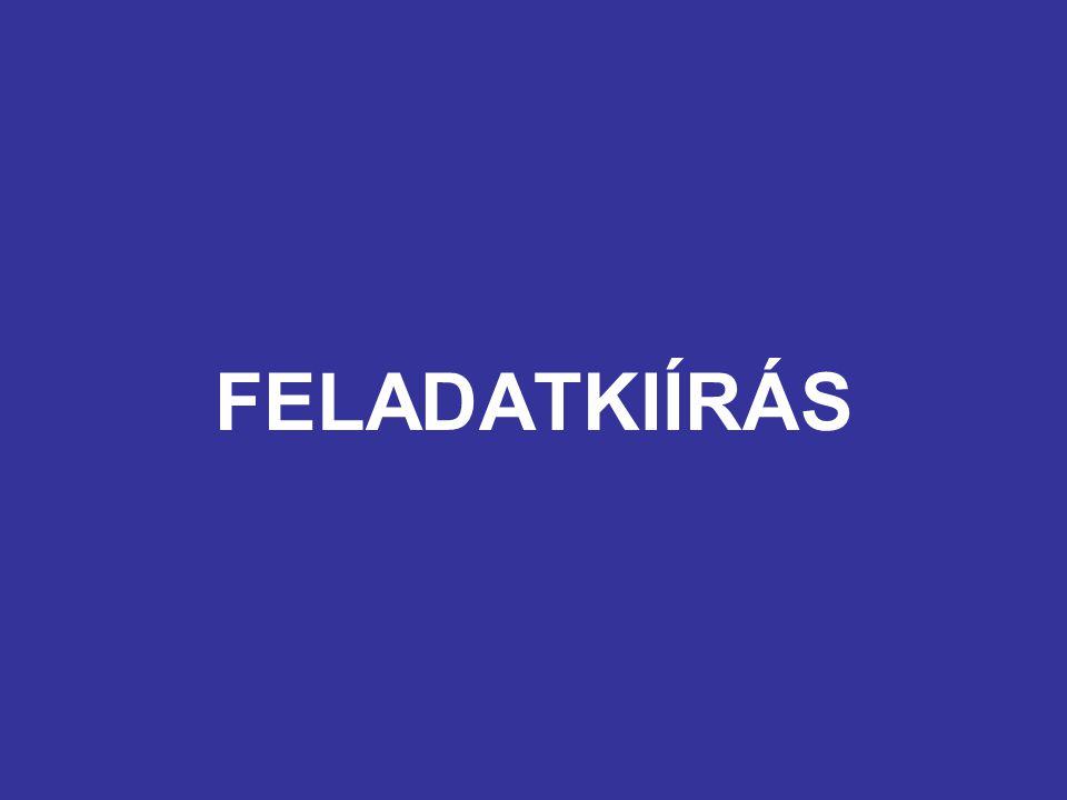 FELADATKIÍRÁS