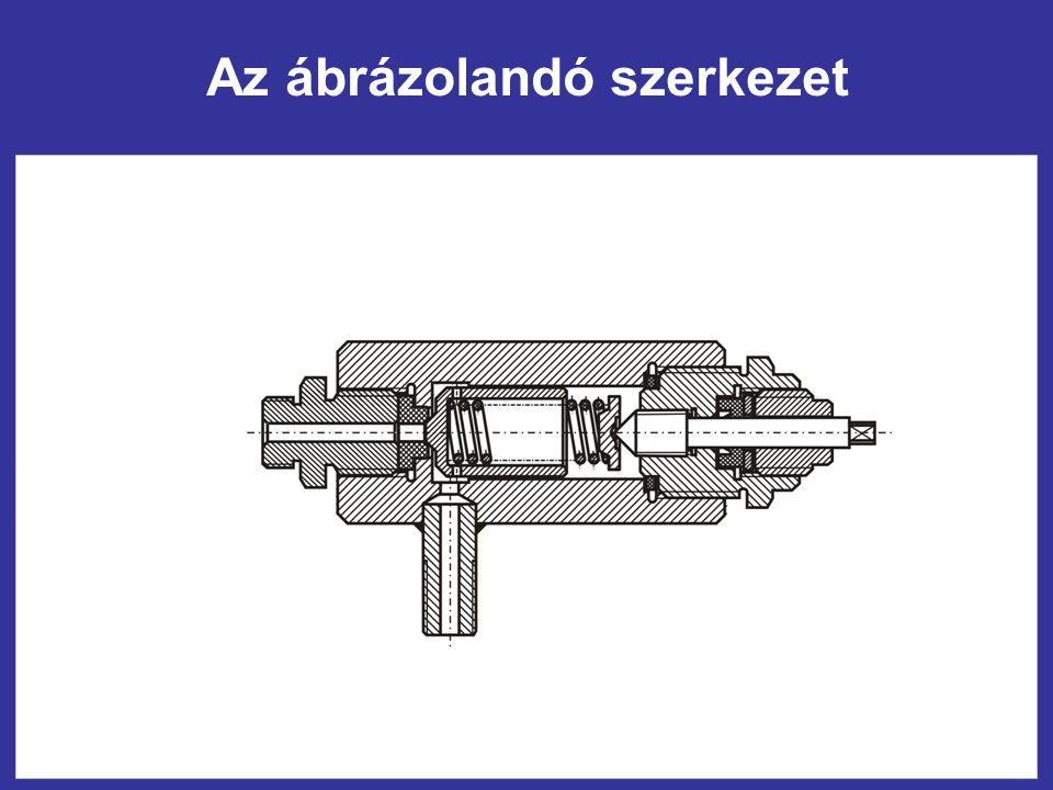 Az ábrázolandó szerkezet